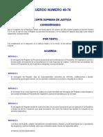 ACUERDO 49-76 (Reglamento Del Registro de Procesos Sucesorios)