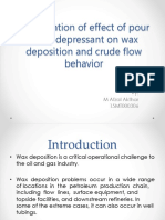 Investigation of effect of pour point depressant on Wax deposition.pptx
