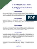 ACUERDO 55-2014 (Reglamento Inscripciones Renap)