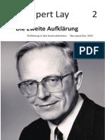 Rupert Lay - Die Zweite Aufklaerung - 2. Auflage 2015