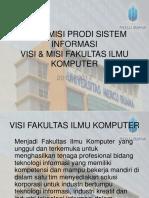 Visi & Misi Prodi Sistem Informasi