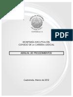Manual Consejo de La Carrera Judicial Aprobado