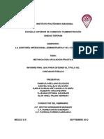 Metodología aplicación práctica