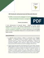 1ra Convocatoria - XXV Seminario Latinoamericano de Educación Musical - FLADEM 2019