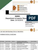Presentation for SMMC-Interior Design