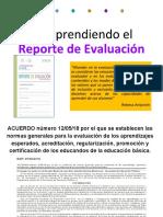Reporte de Evaluacion