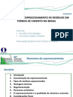 AN OVERVIEW OF WASTE COPROCESSING IN CEMENT KILNS IN BRAZIL