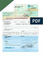 Cheques y Facturas Para Llenar