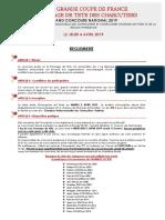 Règlement - 27ème GRANDE COUPE DE FRANCE DU FROMAGE DE TETE DES CHARCUTIERS
