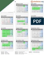 Kalender 2019 Hamburg Hoch