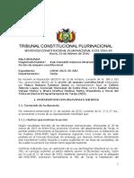 SCP 0133-2016-s2 Marco Antonio Cardozo Jemio - Derecho Soberania Popular Eleccion Democratica Otorga mas Curules que Candidatos Inscritos. Modifica Normativa Electoral Nacional