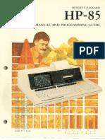 HP85manual