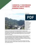 El Inpacto Ambiental y Viodiversidad en Santa María Del Monte Visente Guerrero Puebla