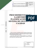 024 Procedimiento Revision Planificacion Sistema Gestion Calidad