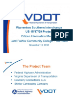 VDOT Warrenton Interchange Powerpoint Nov 2018