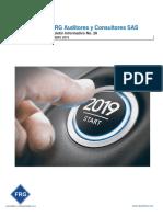 Boletín Informativo Principales Cambios Enero de 2019 FRG Auditores y Consultores