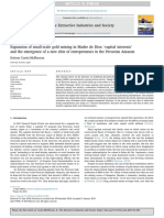 """Cortés-McPherson, D. (2019). Expansion of Small-scale Gold Mining in Madre de Dios. """"Capital Interests"""" and the Emergence of a New Elite of Entrepreneurs in the Peruvian Amazon. the Extractive Industries and Society."""