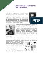 Aportes de La Psicologia de La Gestalt a La Psicologia Social