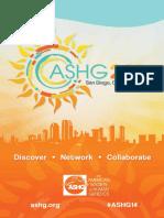 ASSHG Program, 2014