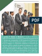 12-02-19 Se gradúan 27 oficiales en Monterrey