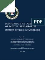 Measuring the Impact of Digital Repositories