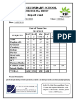 10 B Girls Reports Cards (1)