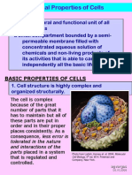 Universal Properties of Cells