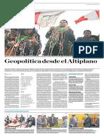 Geopolítica desde el Altiplano