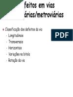 Defeitos via Ferroviaria