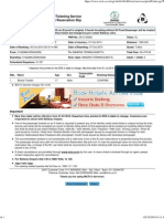 IRCTC Sample Ticket Format