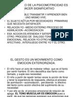 PSICOMOTRICIDAD  CONCEPTO DE GLOBALIDAD DE PERSONA