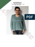 Casual Green Sweater Machine Knitting Pattern