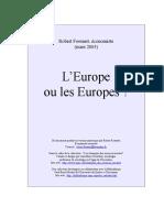 +++EUROPE  OU  EUROPES.doc