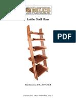 Plans Ladder Shelf
