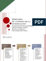1. Seminario - Contexto de la investigación.pptx