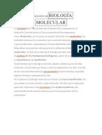 Definición Debiología Molecular