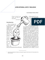 La Formacion Integral Mito y Realidad. Luis Enrique Orozco Silva