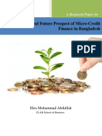 Future and Present Prospect of Micro-Credit Finance in Bangladesh