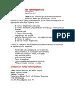 Ejemplo de Fichas Hemerográficas