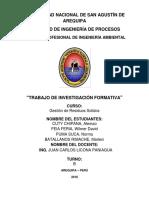 Trabajo de Investigacion Formativa