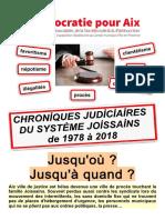 Chroniques judiciaires du système Joissains 1978-2018
