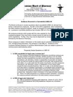 Louisiana Board of Pharmacy guidelines on CBD oil