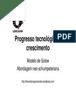 Progresso Tecnológico e Crescimento