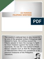 10 Famous Filipino Writers