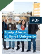 Study Abroad at Umea Brochure