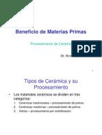 Beneficio de Materias Primas
