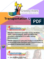 Greeley-Evans School District 6 transportation update Feb. 2019