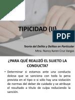 II. Tipicidad (II)