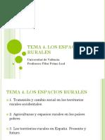 Tema 4. Los Espacios Rurales