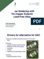 Diepstraten Reflow Soldering With Tin Copper Eutectic SN100 vs SAC